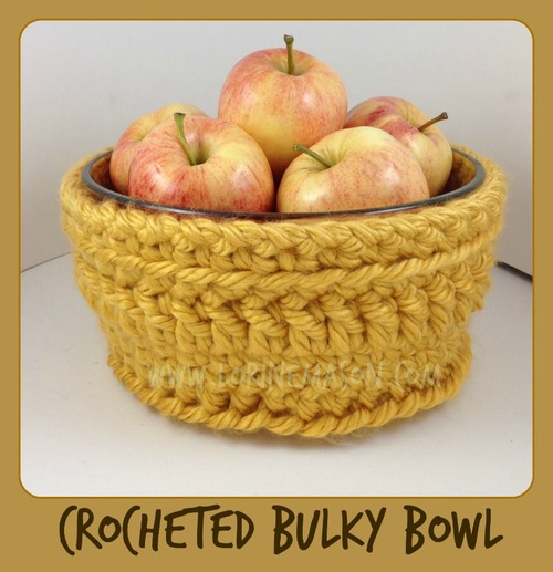 Chunky Bowl Cover Free Crochet Pattern