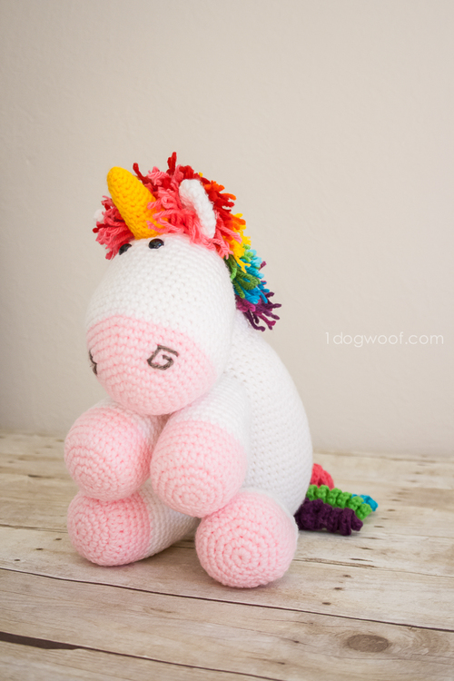 Rainbow Cuddles Crochet Unicorn
