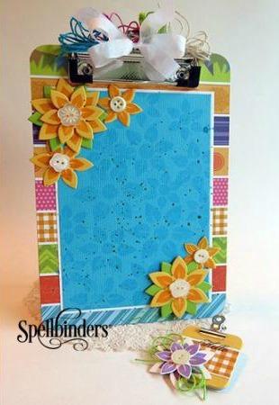 Spring Flowers DIY Clipboard