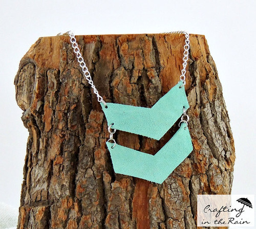 Trendy Turquoise Leather Necklace