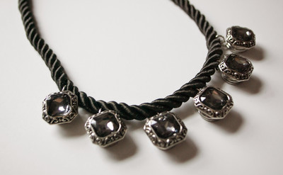 Enigmatic Cord and Crystal Necklace