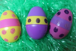 Glitter Eggs for Easter