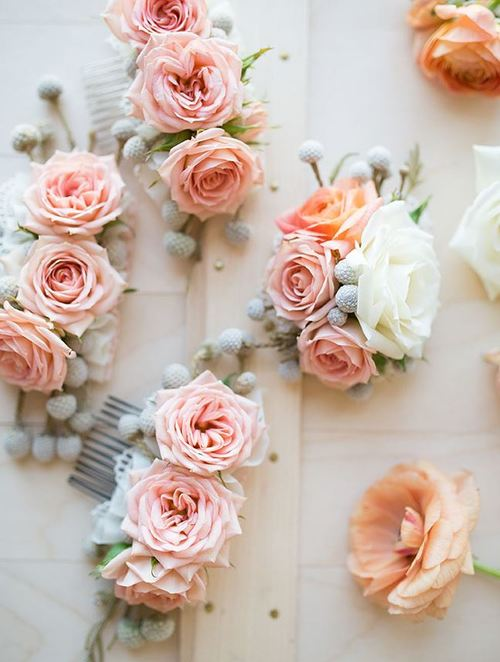 Blushing Bride Rose Hair Slide
