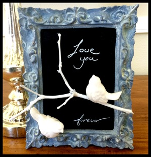 Vintage Chalkboard Frame DIY Home Decor