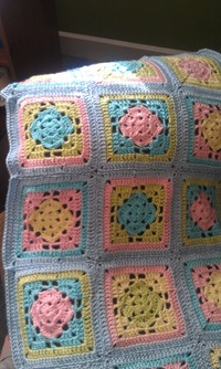 Spring Fling Granny Square Blanket