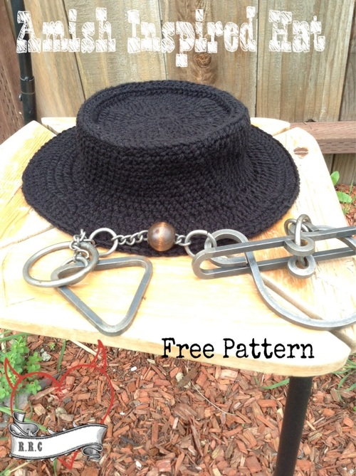 Amish Inspired Crochet Hat