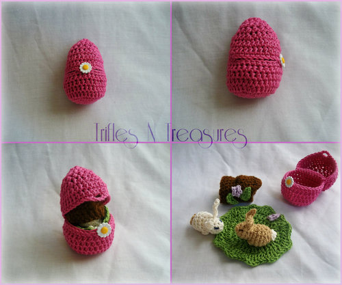 Crochet Easter Bunny Playset