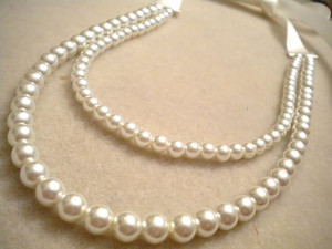 Easy Pearl and Ribbon Necklace