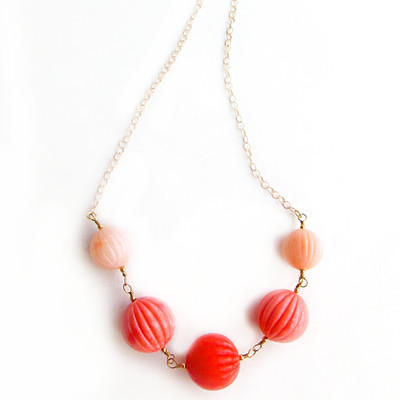 Ombre Coral Necklace