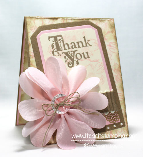 Vintage Thank You Card Craft