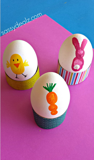 Fingerprint Easter Egg Decorating Ideas