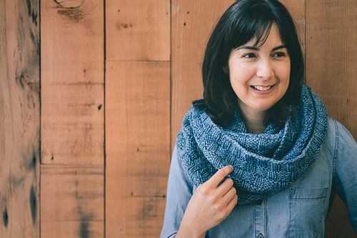 Double Basketweave Cowl A