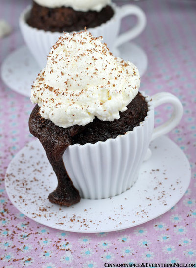Hot Cocoa Chocolate Cupcakes