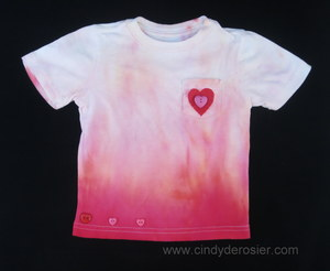 Little Girl's Ombre Homemade Tie Dye Shirt