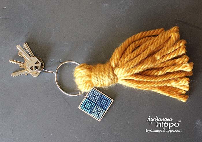 Giant Tassel Keychain Easy Yarn Craft FaveCrafts