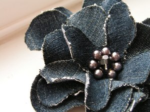 Denim Flower Corsage