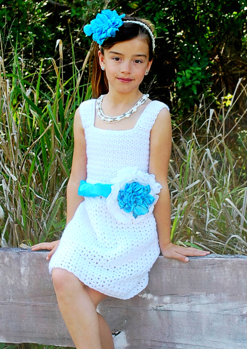 Simple Spring Girls Crochet Dress Pattern