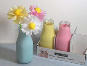 DIY Painted Jugs and Spring Flowers