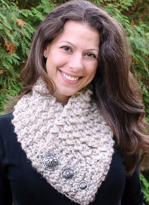 Gold-Strung Goddess Knit Scarf