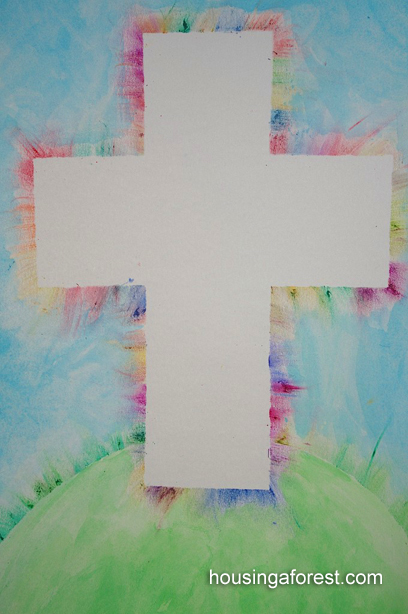 Colorful Cross Easter Art Project