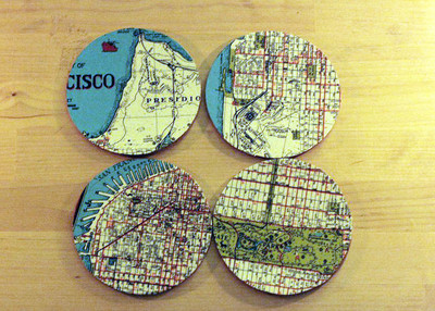 Cool Map DIY Coasters