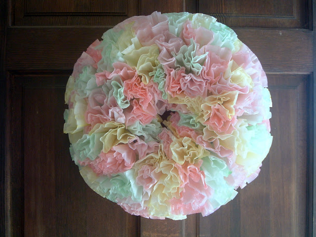 Dip And Dye Coffee Filter Wreath Allfreeholidaycrafts Com