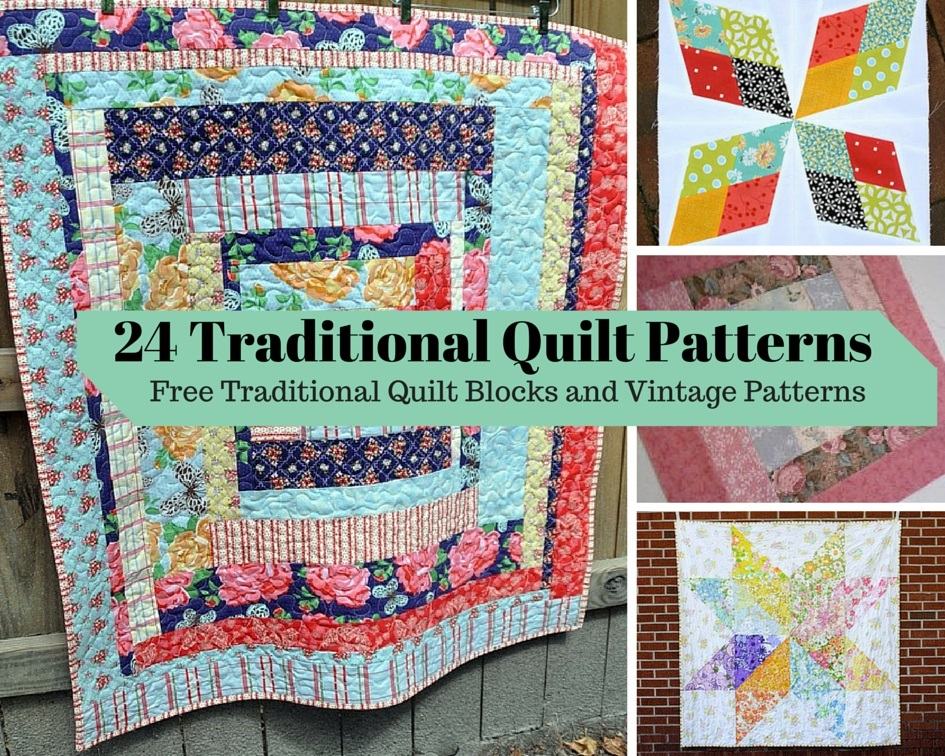 Patchwork Quilt Block Patterns Free : 24 Traditional Quilt Patterns: Free Traditional Quilt Blocks and Vintage Patterns FaveQuilts.com