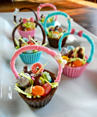Edible Chocolate Easter Baskets