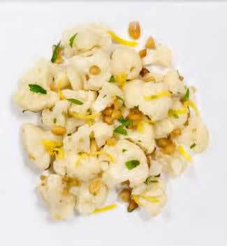Cauliflower with Lemon-Pine Nut Dressing