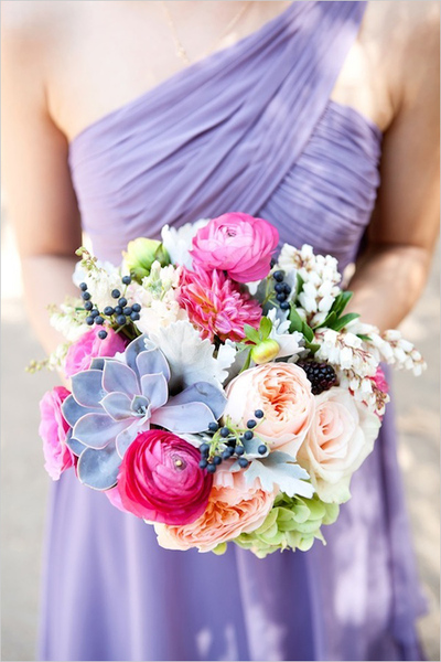 Pops of Pink Earthy Bouquet