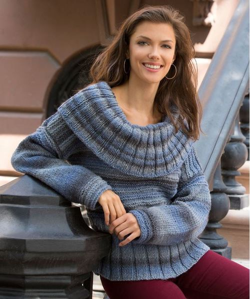 Rippling Pond Knit Sweater