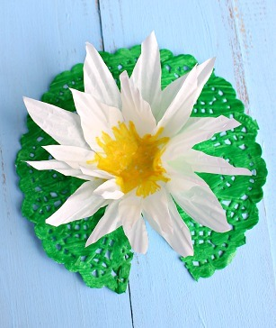 Charming Lily Pad Paper Craft