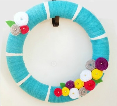 Easy Felt Spring Wreath