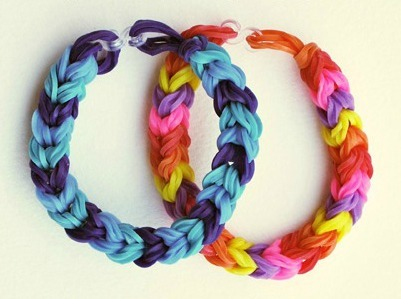 Chunky Fishtail Rainbow Loom Bracelet
