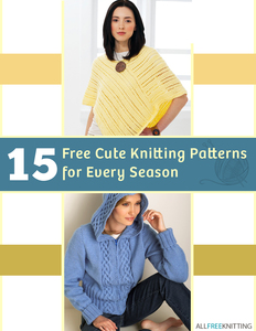 """15 Free Cute Knitting Patterns for Every Season"" eBook"