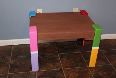 Reworked Rainbow Table DIY Craft Project