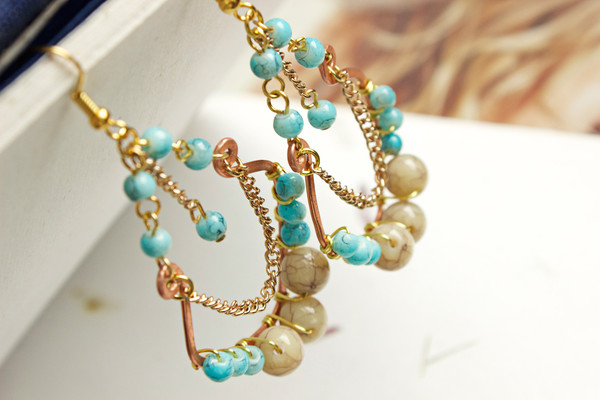 Beachy Turquoise Earrings