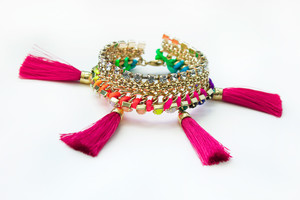 Neon Pop Tropical Punch Bracelets