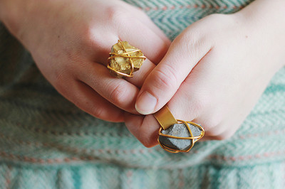 Golden Stone Ring