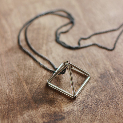 Geometric Prism DIY Necklace