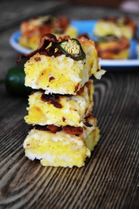 Jalapeno Cheddar and Bacon Breakfast Bars