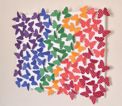 Spring Fling Butterfly Wall Art Allfreeholidaycrafts Com