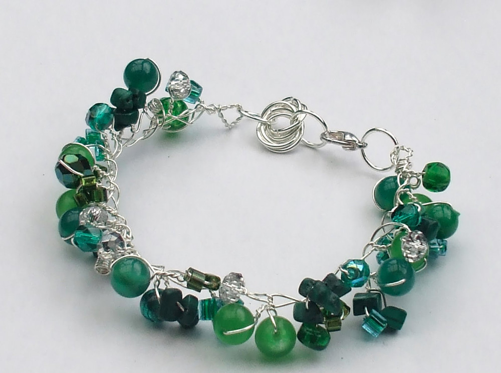 Twisted wire and bead bracelet for How to make rock jewelry