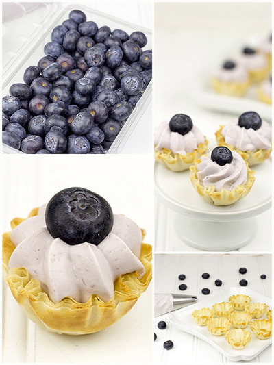 No Bake Blueberry Cheesecake Bites
