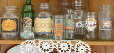 DIY Vintage Jar Collection
