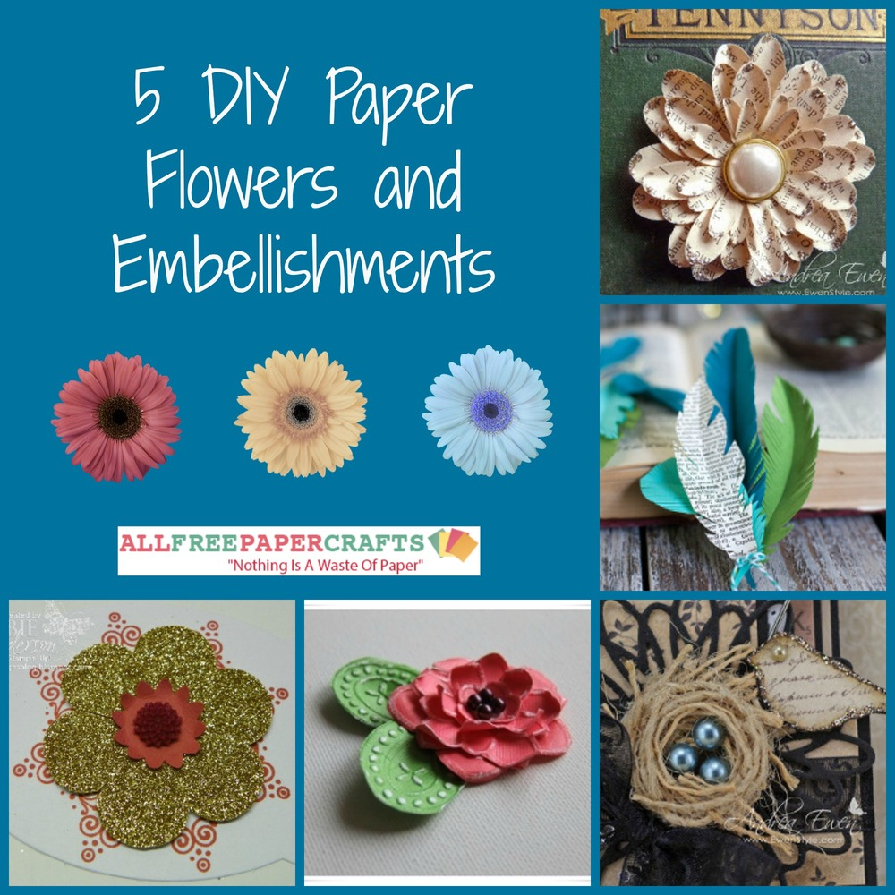 5 diy paper flowers and embellishments allfreepapercrafts dhlflorist Choice Image