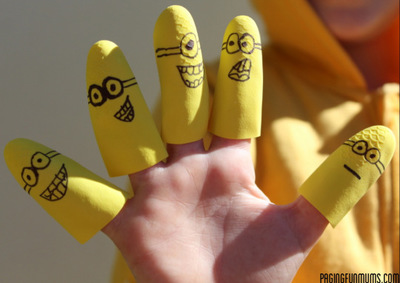 Minion DIY Finger Puppets