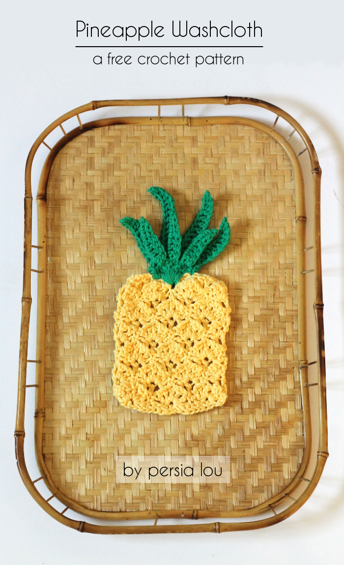 Pretty Pineapple Dishcloth Allfreecrochet