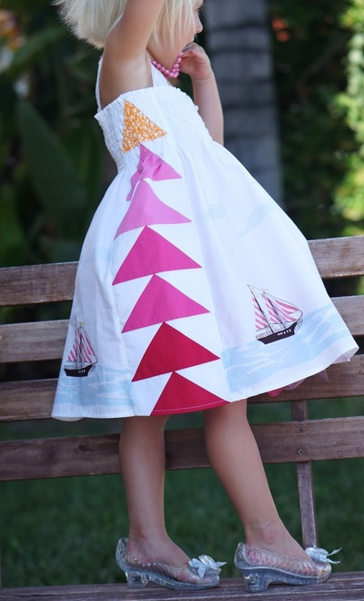 Ombre Flying Geese Pattern Dress