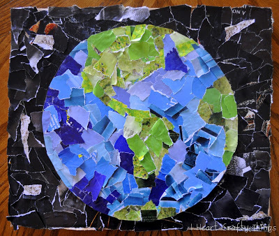 Easy Earth Day Collage
